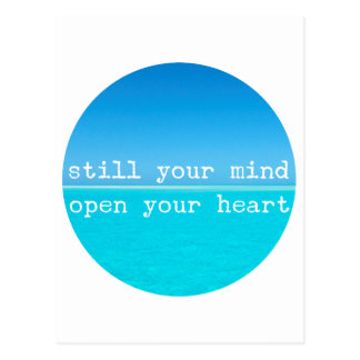 Inhale Exhale Relaxing Meditational Quote Postcard