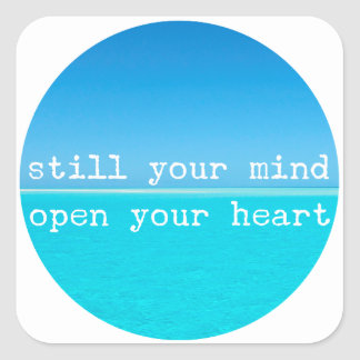 Inhale Exhale Relaxing Meditational Quote Square Sticker