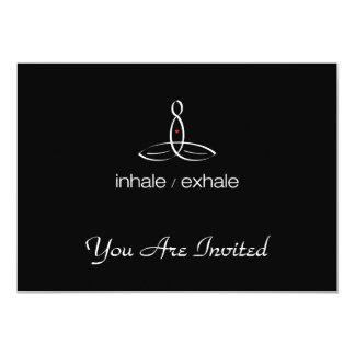 Inhale Exhale - White Regular style 13 Cm X 18 Cm Invitation Card