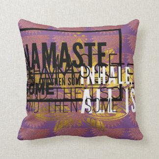 Inhale exhale yoga pillow