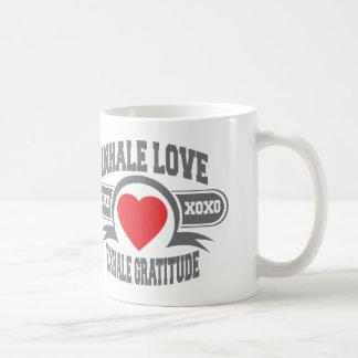 Inhale Love, Exhale Gratitude Coffee Mug