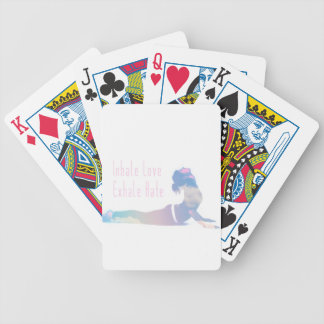 Inhale Love Yoga Series Bicycle Playing Cards