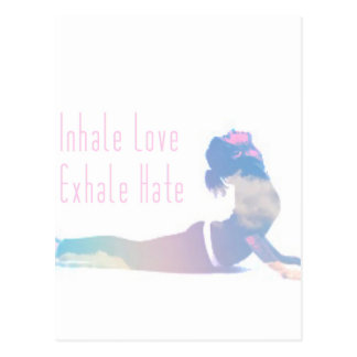 Inhale Love Yoga Series Postcard