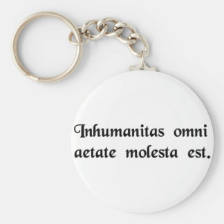 Inhumanity is harmful in every age. keychains