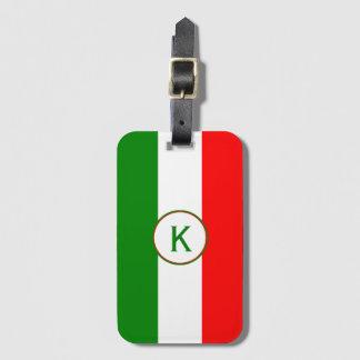 InitiaI Italy Italian Flag Luggage Tag