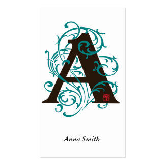 Initial A business card