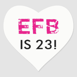 Initial Birthday Heart Sticker