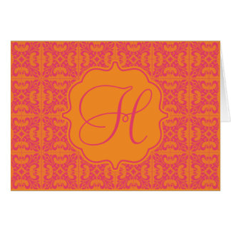 Initial Bright Note Card