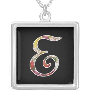 Initial E Monogram Necklace