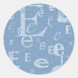 Initial E Sticker