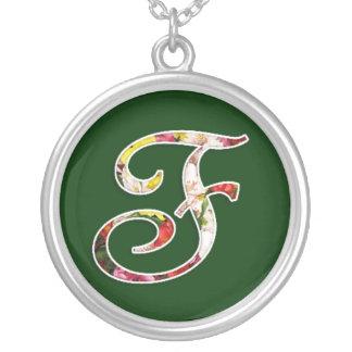 Initial F Monogram Necklace