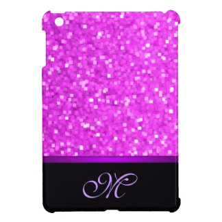 Initial Girly Glitter Monogram / House-of-Grosch iPad Mini Case