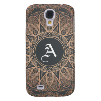 Initial in ethnic mandala pattern galaxy s4 cover