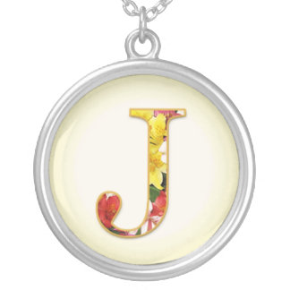 Initial J Flower Necklace