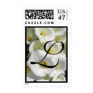 Initial L  with lillys Postage Stamps