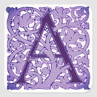 Initial Letter A Sticker
