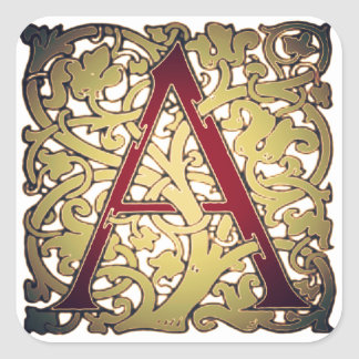 Initial Letter A Stickers