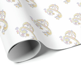 Initial letter P monogram personalized wrap Wrapping Paper
