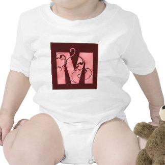 Initial M Baby Bodysuits