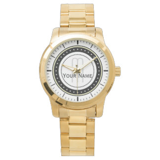Initial Name Classic. Unisex Oversized Bracelet Watch