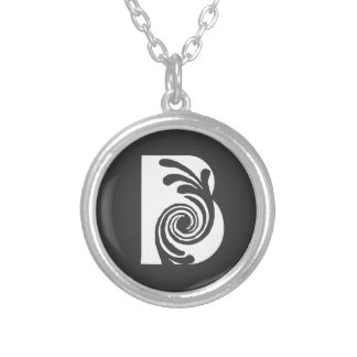 Initial necklace B Blanca