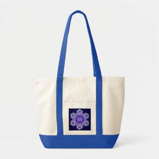 Initial New Year Snowflake Impulse Tote Bag