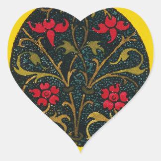 INITIAL O, 1520. HEART STICKER