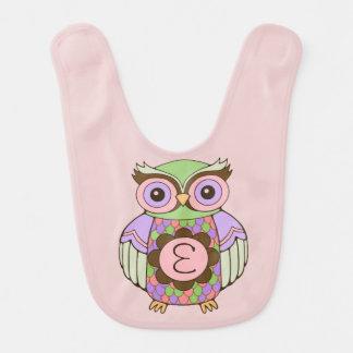 Initial Owl Bib