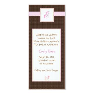 Initial Pink 10 Cm X 24 Cm Invitation Card