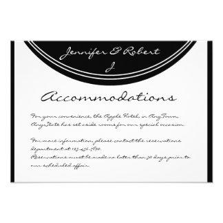 Initial Reaction: Monogram Black and White Insert Custom Announcement