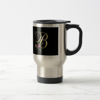 initial stainless steel travel mug
