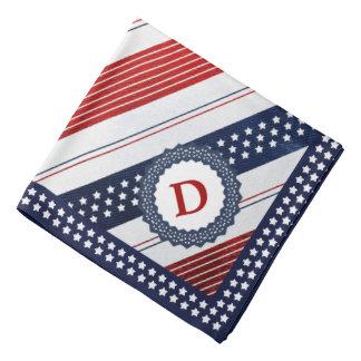 Initial Template Independence Day Diagonal Stripes Bandana