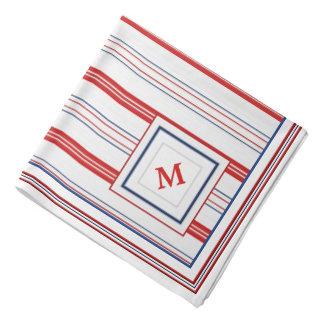 Initial Template - Patriotic Vertical Stripes Kerchiefs
