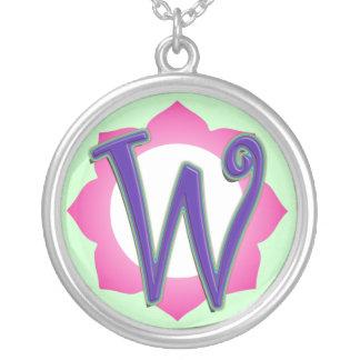 initial W pendant