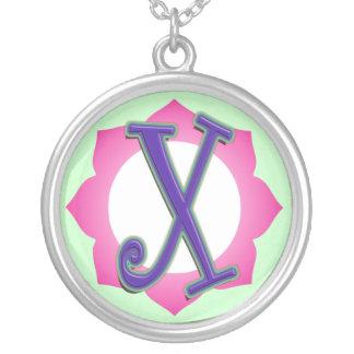 initial X pendant