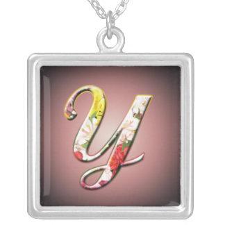 Initial Y Monogram Necklace