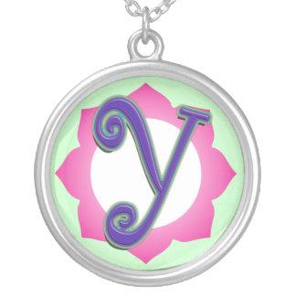 initial Y pendant