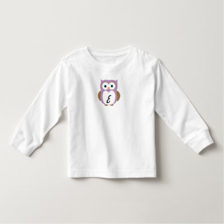 Initialed owl long sleeve toddler T-Shirt