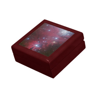 Initialled Christmas Tree Cluster - NGC 2264 Small Square Gift Box