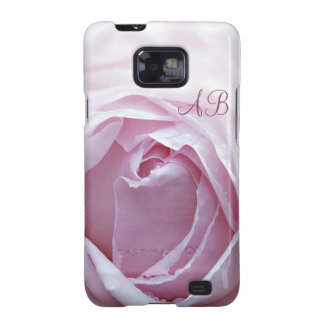 Initialled pink rose samsung galaxy s2 cases