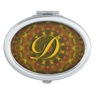 Initialled Weaver's Mandala Compact Mirror