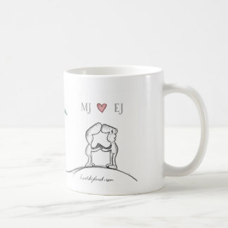 initials basic white mug
