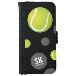 Initials Green Tennis Ball | Sport Gifts iPhone 6 Wallet Case