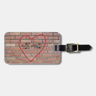 Initials in Heart Love Graffiti Personalized Luggage Tag
