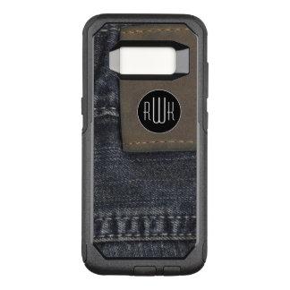 Initials | Jeans texture OtterBox Commuter Samsung Galaxy S8 Case