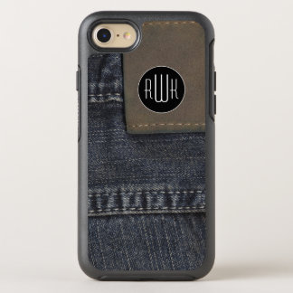 Initials | Jeans texture OtterBox Symmetry iPhone 8/7 Case