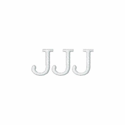 """Initials """"JJJ"""" Monogram Polo Shirt"""