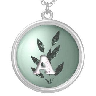 Initials Round Pendant Necklace