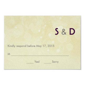 Initials Response Card 9 Cm X 13 Cm Invitation Card