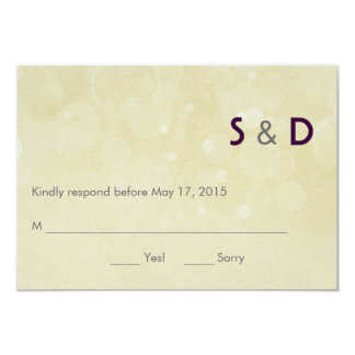 "Initials Response Card 3.5"" X 5"" Invitation Card"